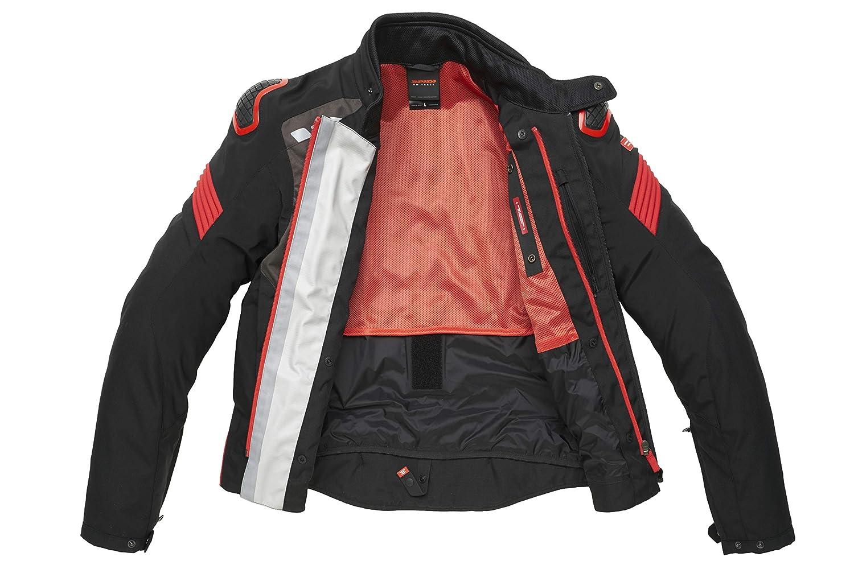 Chaqueta SPIDI D206-021-XXL Warrior H2Out color negro y rojo