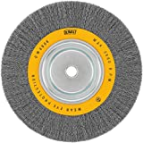 DEWALT DW4908 10-Inch Crimped Bench Wire Wheel, 3/4-Inch Arbor, Wide Face .014-Inch Wire