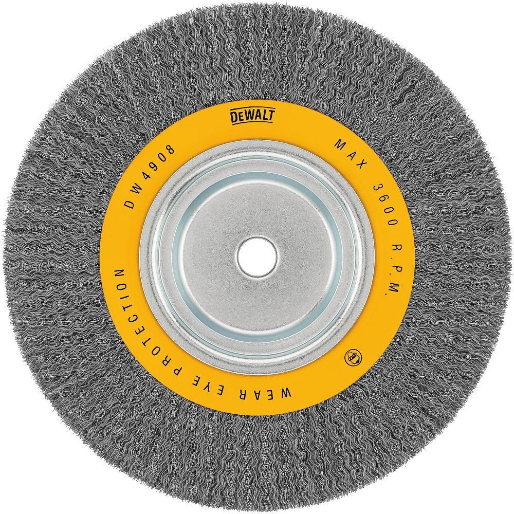 B00004YMDM DEWALT Wire Wheel, 10-Inch, Crimped, 3/4-Inch Arbor, Wide Face, .014-Inch (DW4908) 81kjhv9CKZL