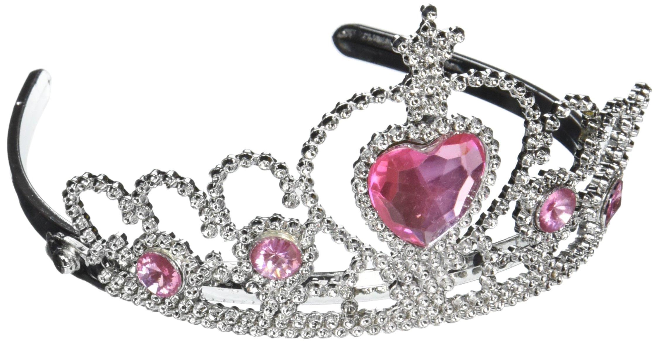 Rhode Island Novelty Tiara with Pink Heart Jewel