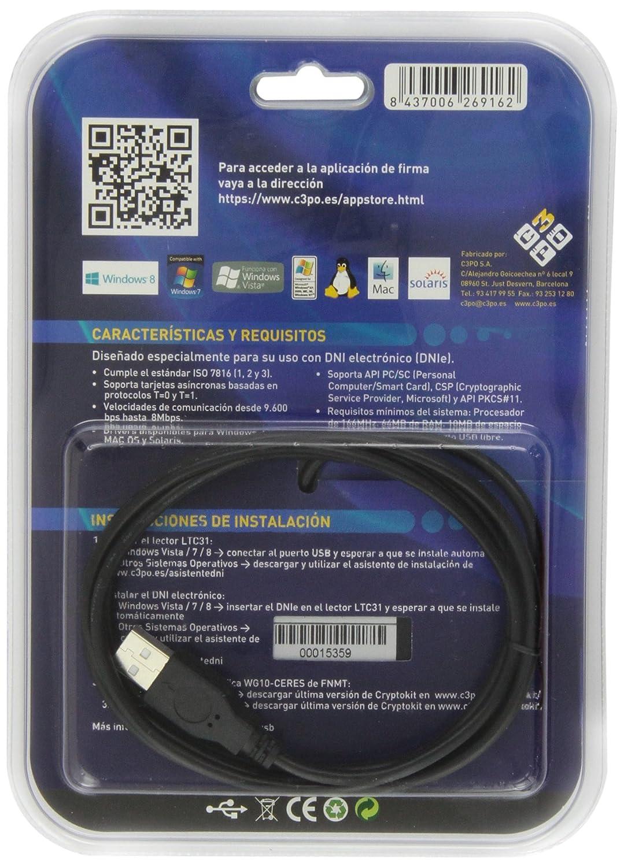 C3Po LTC31USB - Lector Tarjeta USB Dnie (Blister)
