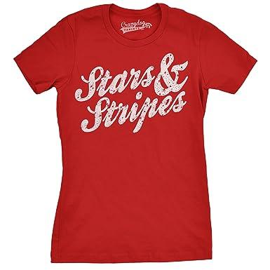 Crazy Dog Tshirts Womens Stars and Stripes Funny Tees Cool USA ...
