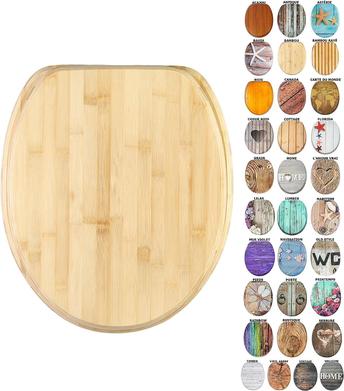 Abattant WC Finition de haute qualit/é Bambou Grande s/élection de abattants wc en bois