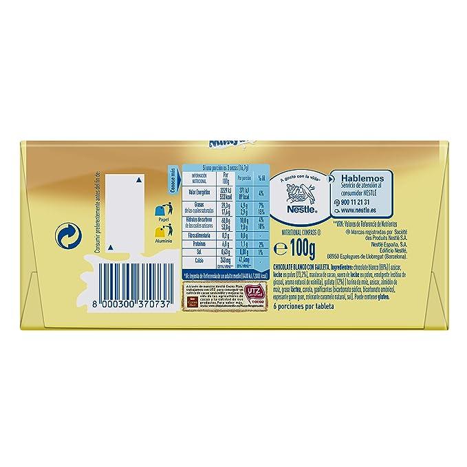 Nestlé Milkybar Chocolate Blanco con galleta - Tableta de chocolate blanco 20x100g: Amazon.es: Alimentación y bebidas