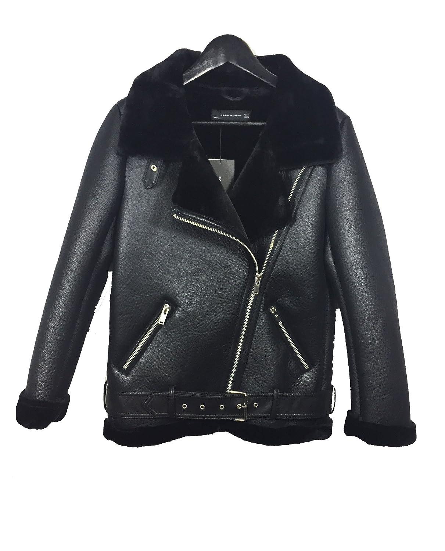 04f567e9 Zara Women's Faux fur collar biker jacket 2969/269 (X-Large): Amazon.ca:  Clothing & Accessories