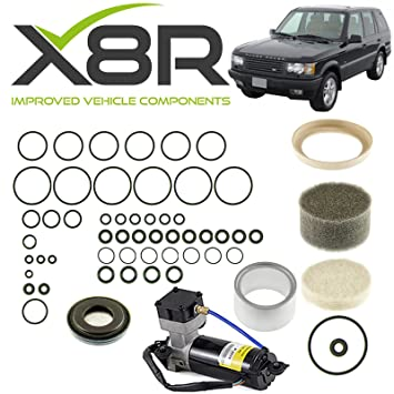 LAND ROVER RANGE ROVER P38 EAS AIR COMPRESSOR SEAL LINER VALVE BLOCK O RING  DIAPHRAGM KIT X8R38