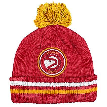 435182280fe Atlanta Hawks Mitchell   Ness NBA  quot Big Man quot  Cuffed Premium Pom  Knit Hat