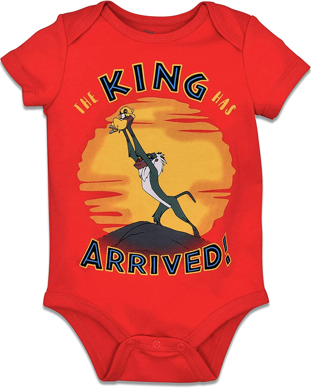 Disney Lion King Baby Boys 5 Pack Bodysuits Simba Timon Pumbaa