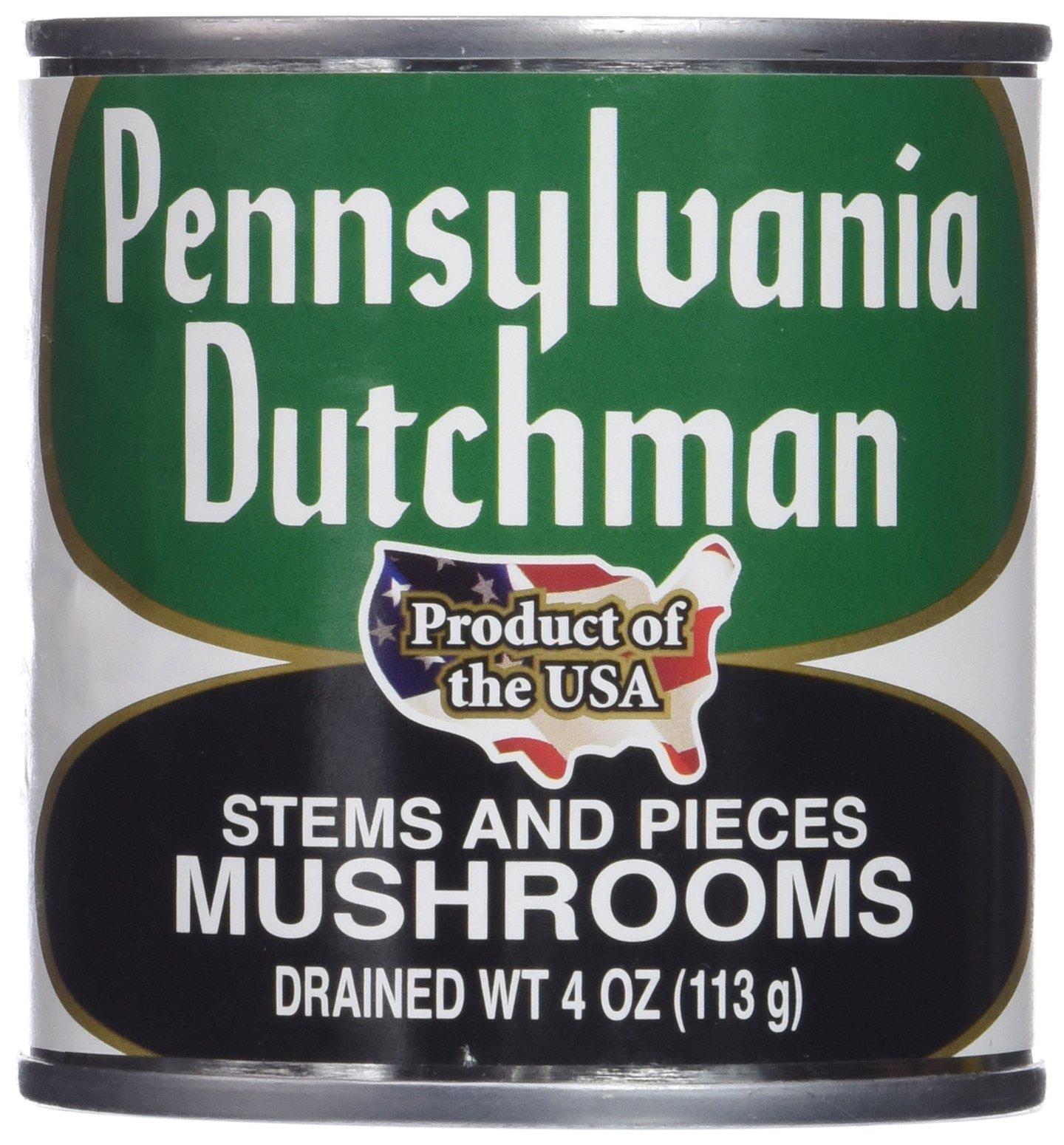 Pennsylvania Dutchman Canned Mushrooms - 12/4 oz. cans by Pennsylvania Dutchman