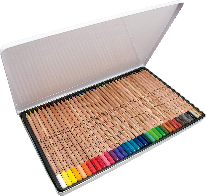 Caja metálica 36 lápices de colores con mina grande Ø3,3 mm 213, multicolor