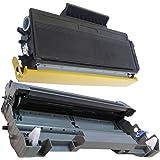 (1 Drum + 1 Toner) Inktoneram® Replacement toner cartridges & drum for Brother TN580 TN550 DR520 Toner Cartridges & Drum replacement for Brother DR-520 TN-580 TN-550 Set DCP-8060 DCP-8065 DCP-8065DN HL-5240 HL-5250 HL-5250DN HL-5250DNT HL-5280 HL-5280DW MFC-8460N MFC-8660DN MFC-8670DN MFC-8860DN MFC-8860N MFC-8870WN