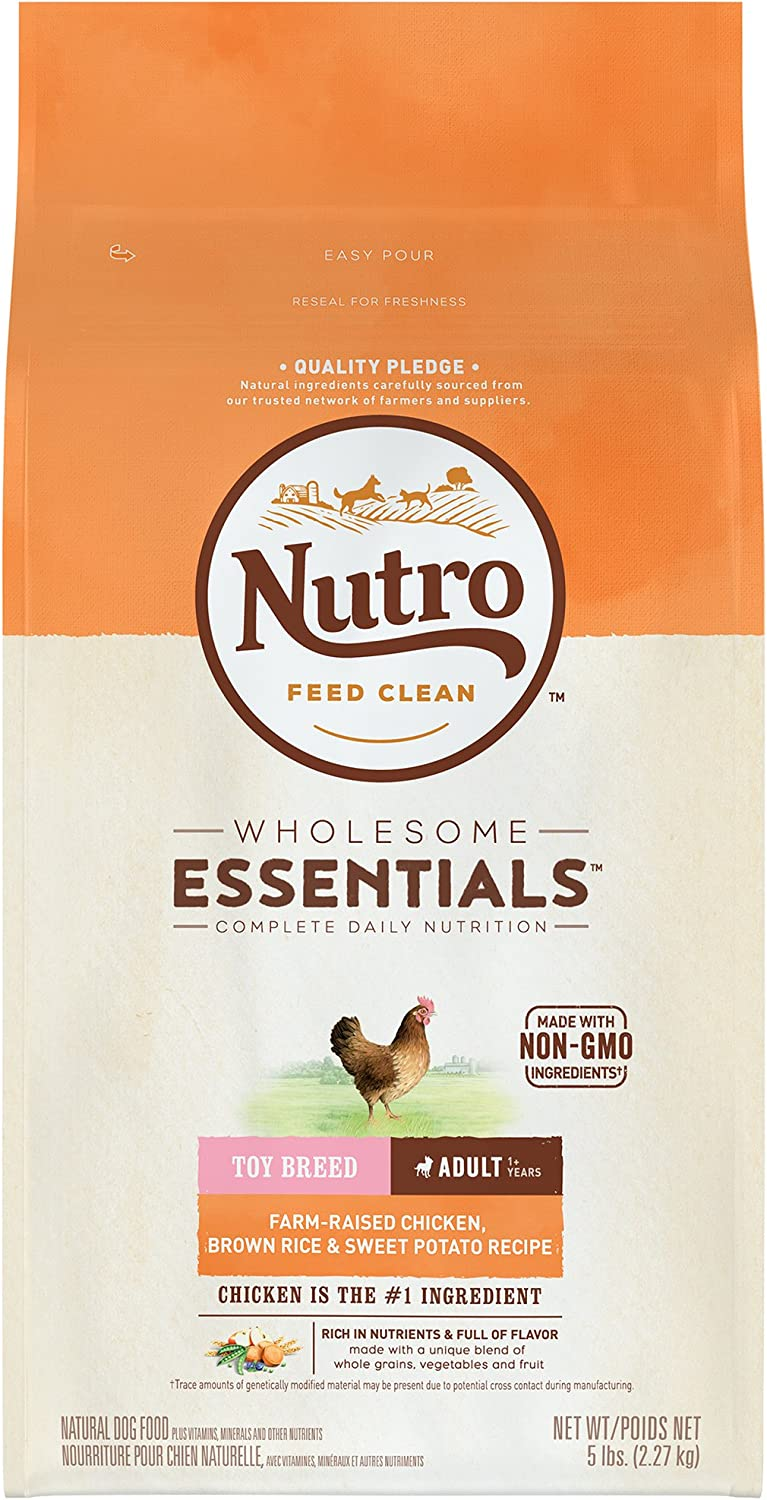 Nutro Wholesome Essentials Natural Adult Dry Dog Food for Small & Toy Breeds - Chicken, Brown Rice & Sweet Potato Recipe