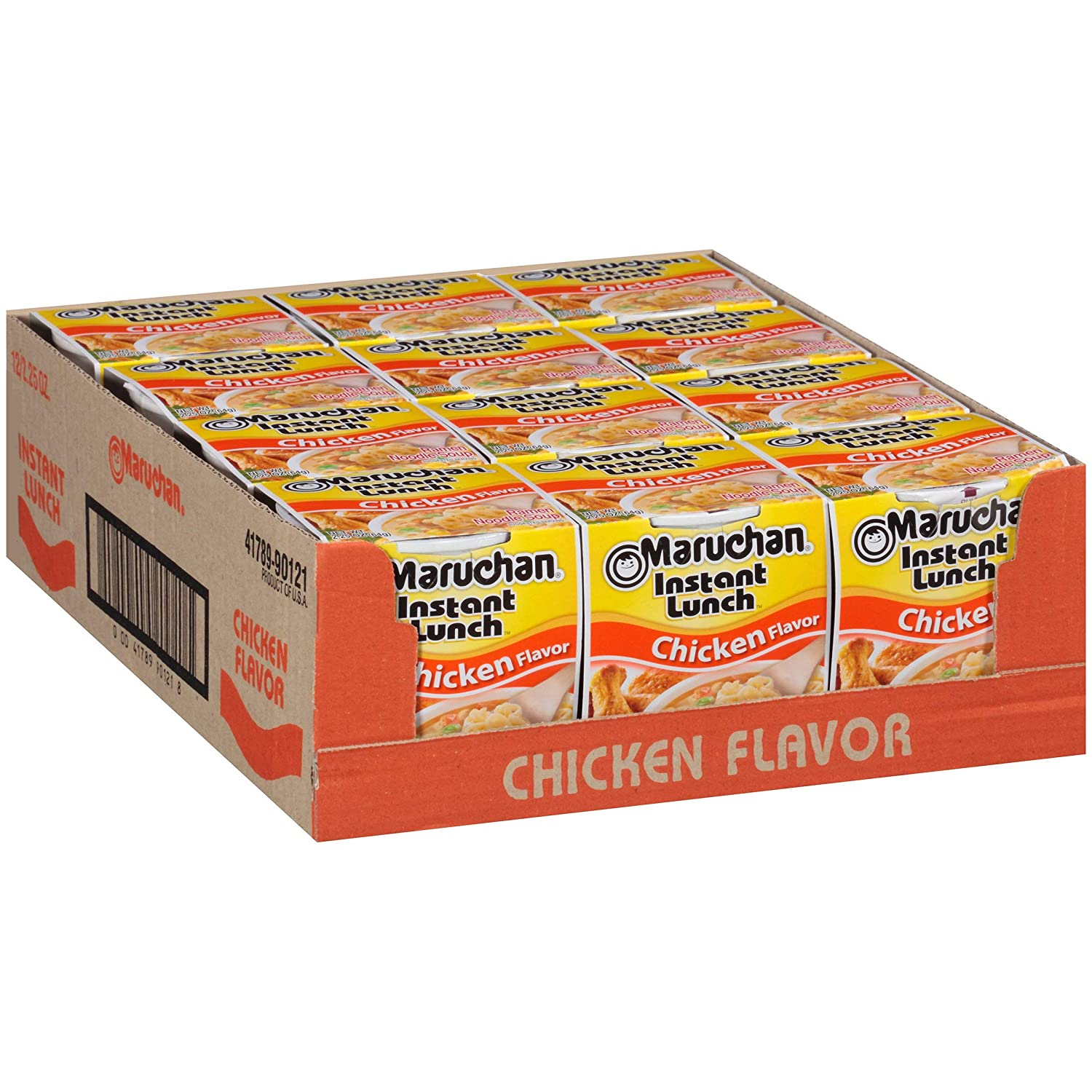Maruchan Instant Lunch Chicken Flavor, 2.25 Ounce (Pack of 12), Set of 2