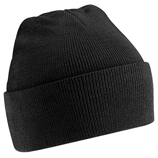 Beechfield Big Boys Junior Kids Knitted Soft Touch Winter Hat (One Size)  (Black 544c66aaab9
