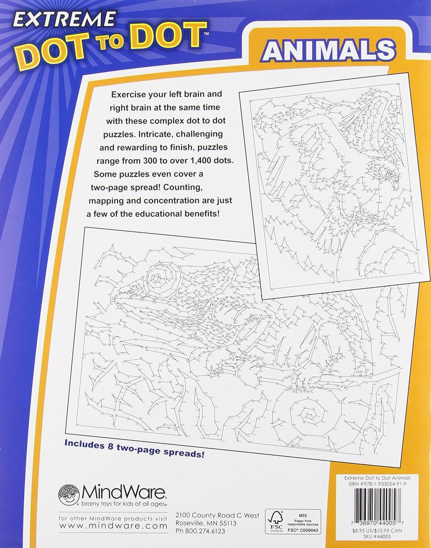 amazon com mindware extreme dot to dot animals book puzzles range