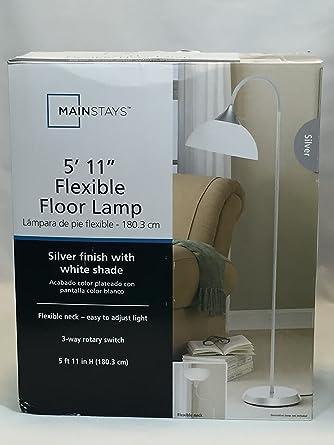 Mainstays jelly gooseneck floor lamp amazon mainstays jelly gooseneck floor lamp aloadofball Image collections