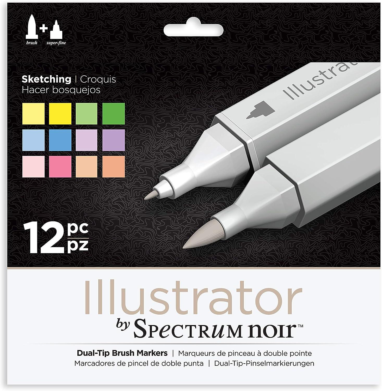 Spectrum Noir Illustrator Pack Of 6 Essentials