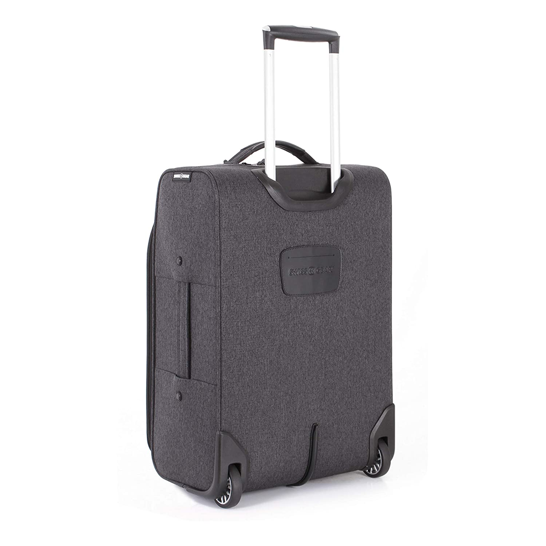 eb9c07a43425 SWISSGEAR Getaway Weekend Rolling Carry-On 20-inch Luggage   Wheeled Travel  Suitcase   Dark Gray