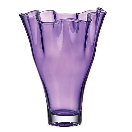 Amazon Lenox Organics Ruffle Crystal Vase Amethyst Home Kitchen