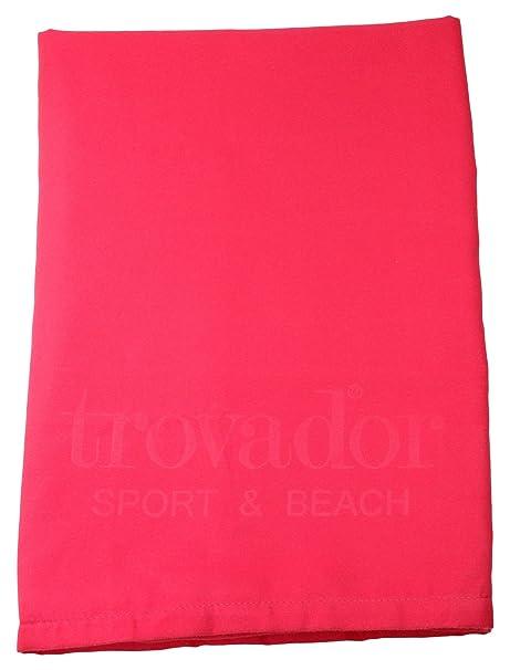 Trovador Sport Toalla, Microfibra, Fucsia, 20x15x3 cm
