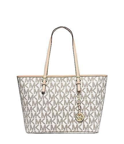 9212a72ef0074 MICHAEL Michael Kors Jet Set Travel Top Zip Tote (Vanilla): Handbags:  Amazon.com