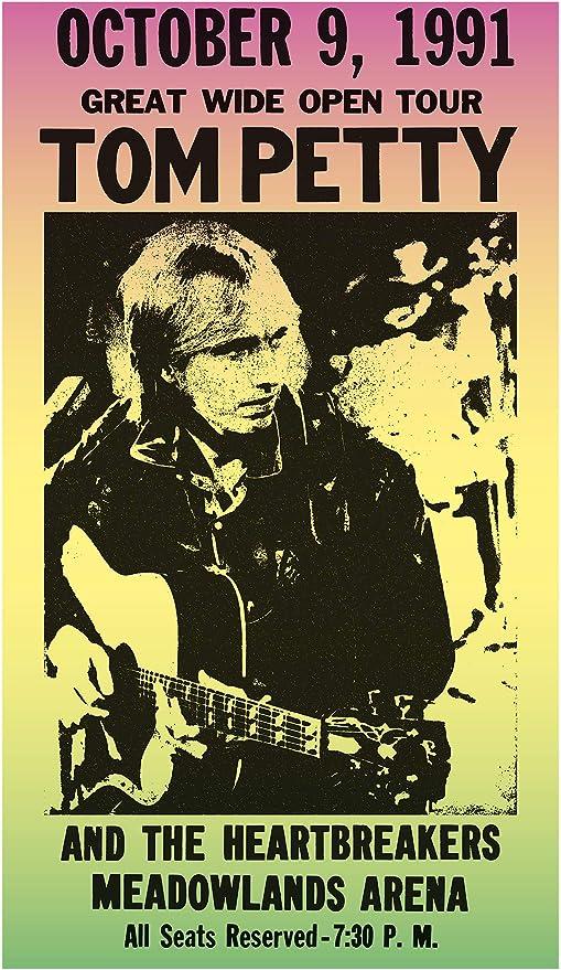 Amazon Com Per Diem Printing Tom Petty The Heartbreakers Meadowlands Arena 13 X22 Vintage Style Showprint Poster Home Nostalgia Decor Wall Art Print Concert Bill Posters Prints
