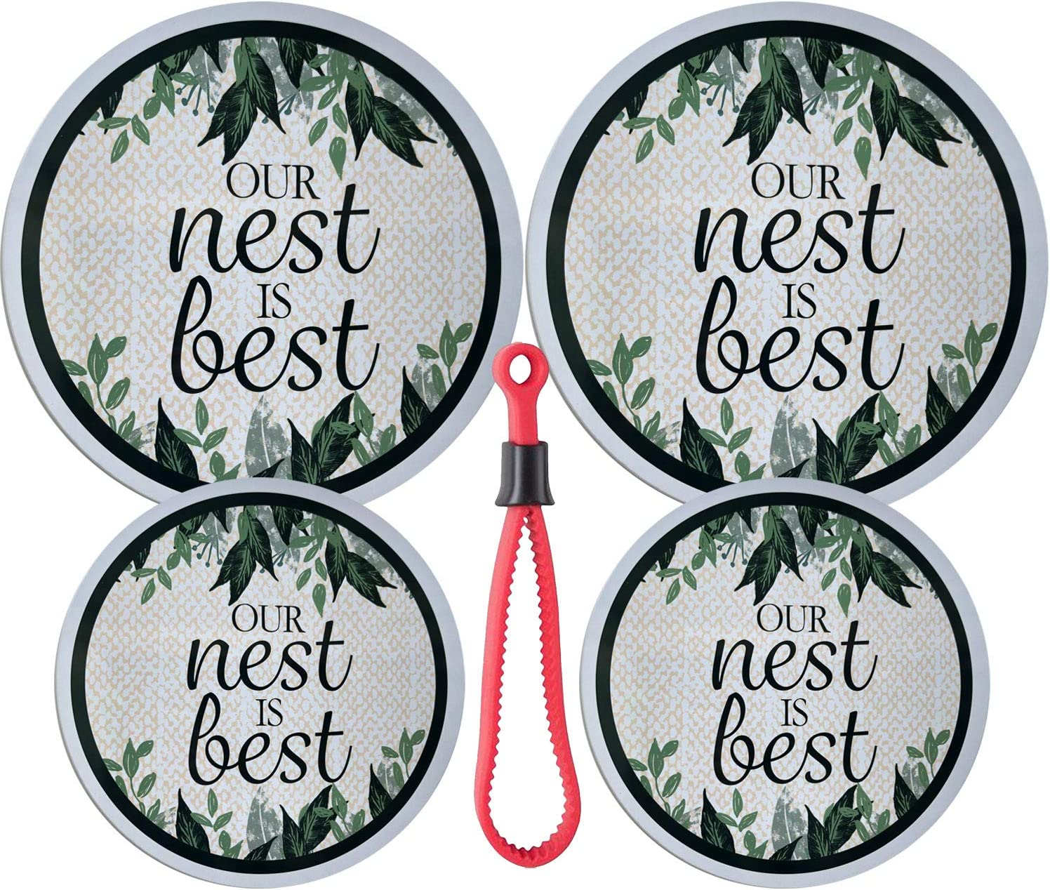 Our Nest Is Best Set of 4 Electric Stove Burner Covers (Nest)