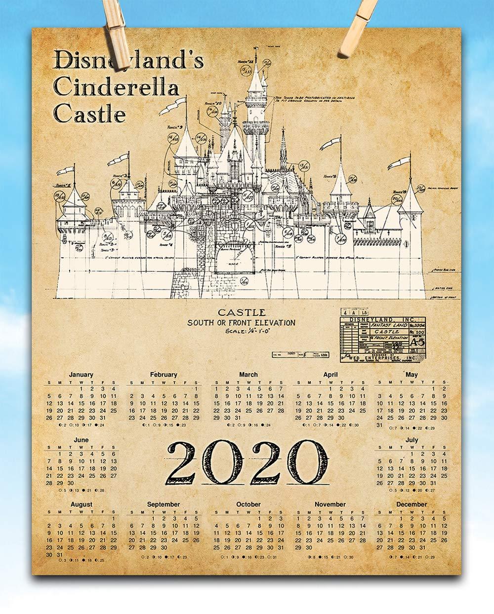 Disneyland December 2020 Calendar Amazon.com: 2020 Calendar   Disneyland Castle   11x14 Unframed