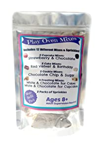 Children's Easy to Bake Oven Mixes Play Toy Oven Real 12 Mixes Mega Refill Kit Cupcakes Cookies Frosting Sprinkles Ultimate Set Cooking Baking Supplies Super Pack Net Wt 11.6 oz