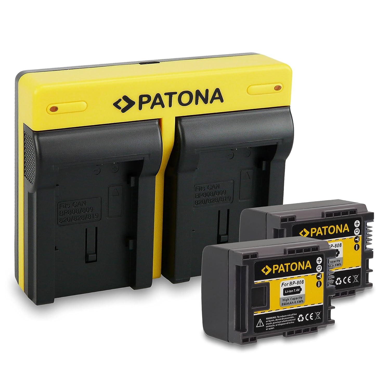 2x Batteria Patona 7,4V 890mah per Canon Legria HF-200,HF-21,HF-G10,HF-M306