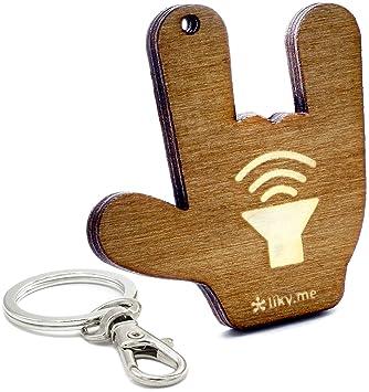 LIKY® Rock llavero original de madera grabado regalo para ...
