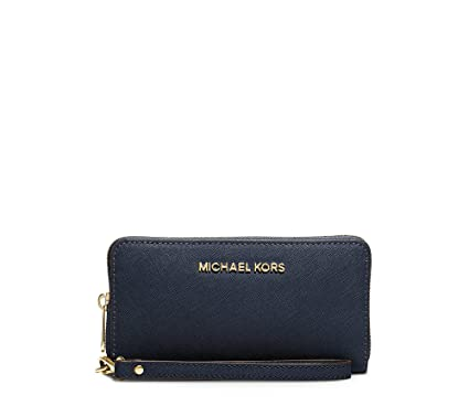 Michael Kors portefeuille porte-monnaie femme deux plis jet set travel blu 91c0c2de536