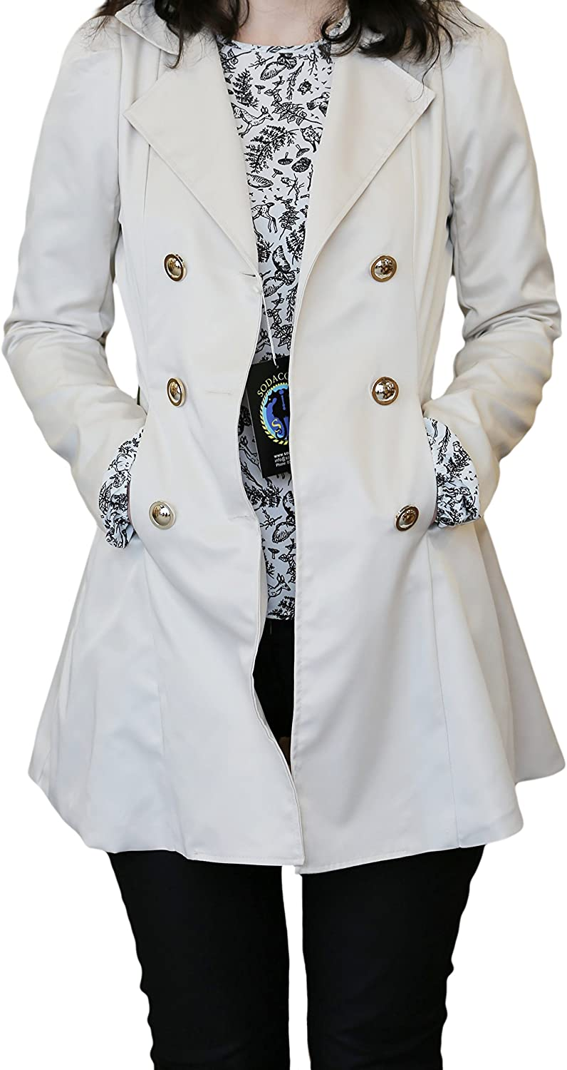 XS-XL Sodacoda Women`s Hourglass Trench Coat