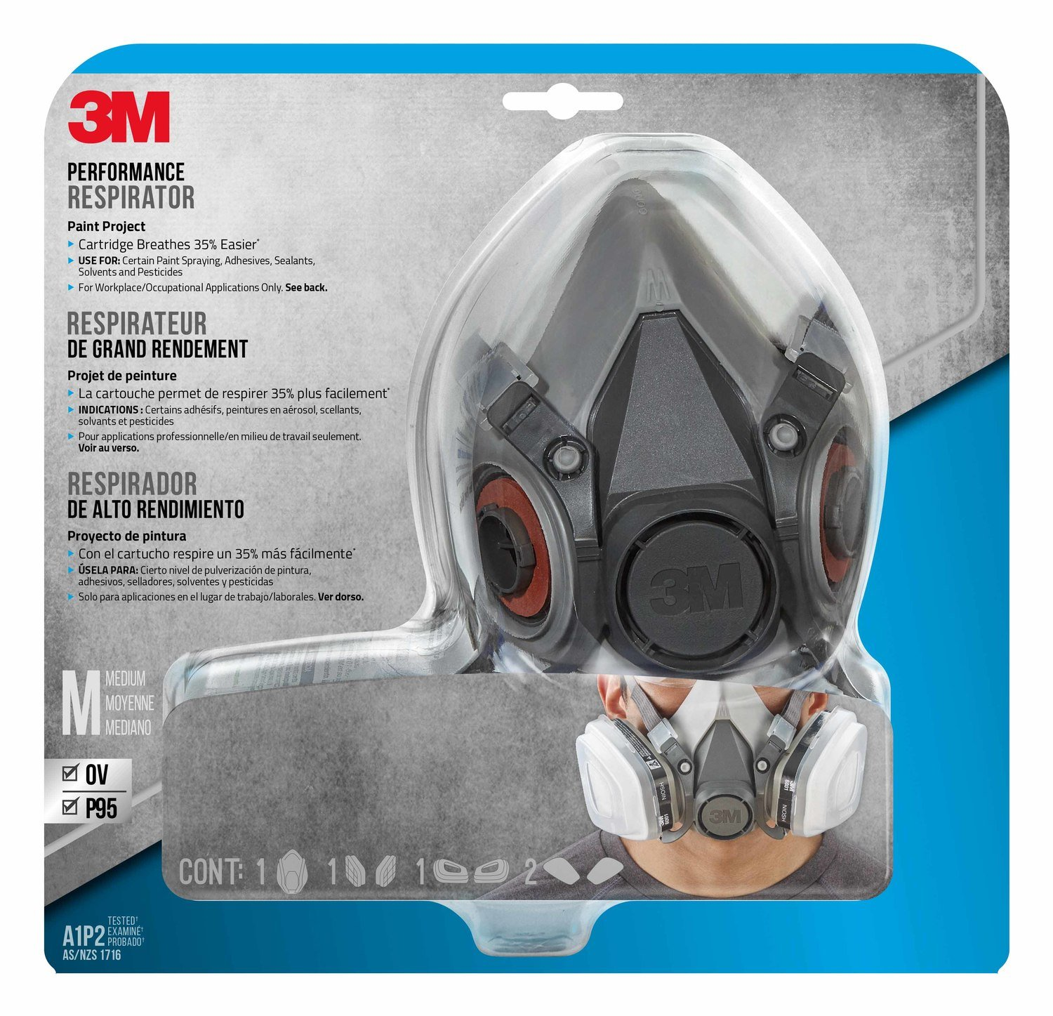 3M Paint Project Respirator, Medium - R6211 by 3M Safety