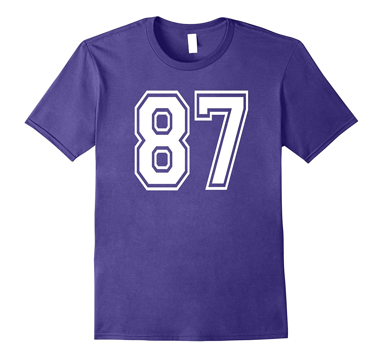 87 Sports Team School Numbers on Front T-Shirt Jersey-Vaci