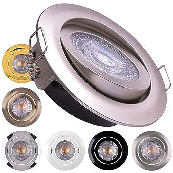 Flacher Einbaustrahler Einbauleuchte LED Deckenstrahler schwenkbar 5Watt 230Volt