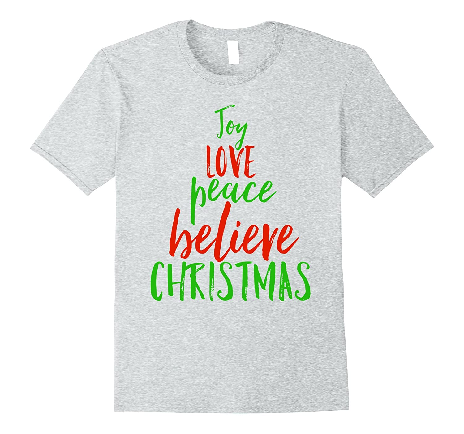 joy love peace believe christmas tree christian faith shirt anz