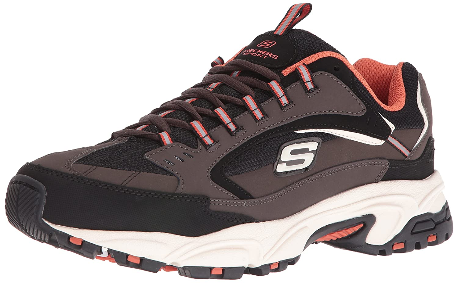 Skechers Sport Men's Stamina Nuovo Cutback Lace-Up Sneaker B01G6I8MFY 11 2E US|Brown/Black