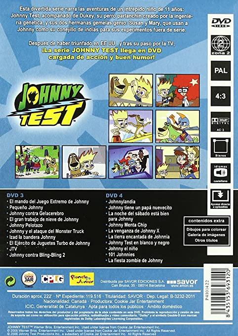 Amazon.com: Johnny Test - Segunda Temporada (Import Movie) (European Format - Zone 2) (2011): Movies & TV