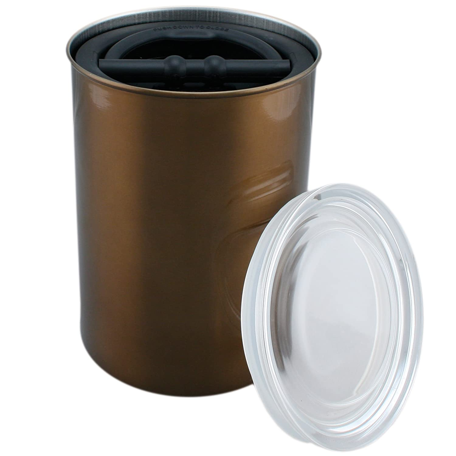 amazon com coffee storage canister airtight container preserves amazon com coffee storage canister airtight container preserves food freshness airscape steel 64 fl oz mocha french presses kitchen dining