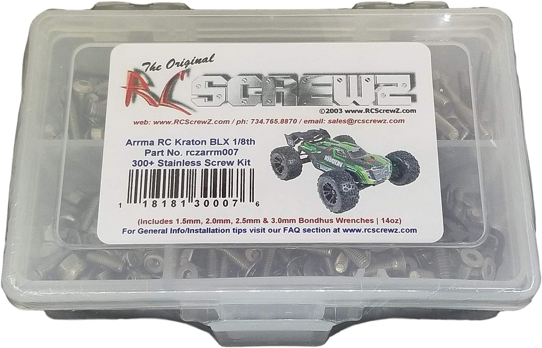 arrm009 RCScrewZ Arrma RC Talion BLX 1//8th Stainless Steel Screw Kit