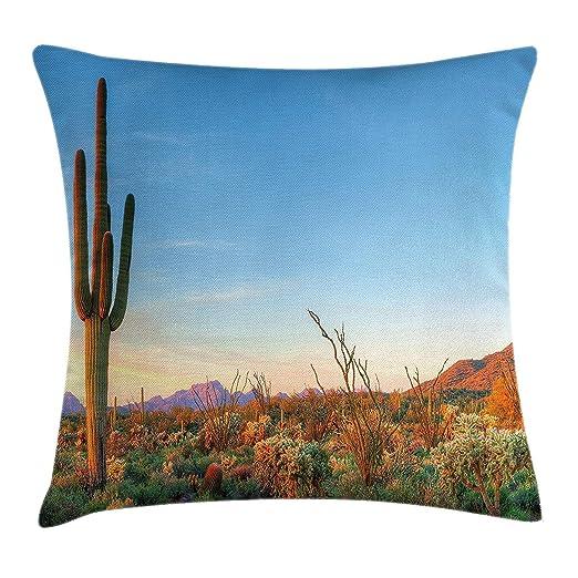 LILKCO Funda de cojín,Cactus Decor Throw Pillow Back Cushion ...