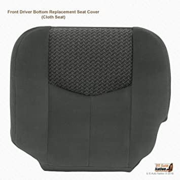 US Auto Nation Chevy Avalanche Driver Side Bottom Leather//Cloth Seat Cover Dark Gray