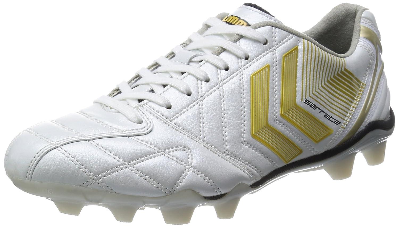 hummelサッカーシューズ B00JQ4R07Mホワイト*ゴールド セラーテαAR 25.0 [ヒュンメル] cm