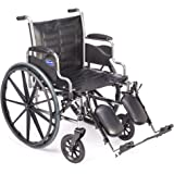 "Invacare - Tracer EX2 - Manual Wheelchair - Removable Desk-Length Armrest with Elevating Legrest - 18"" x 16"" Seat"