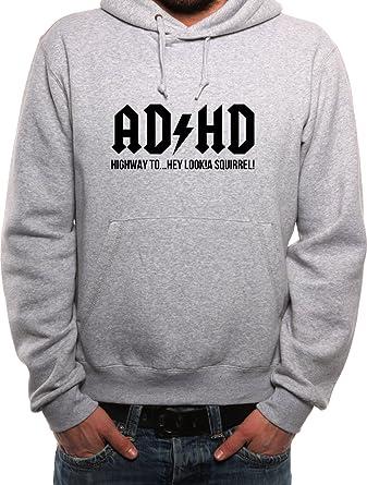 Mister Merchandise Herren Hoodie Kapuzenpullover ADHD ADHS
