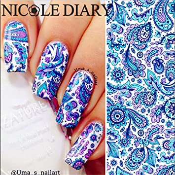 Amazon nicole diary nail art water decals stickers elegant nicole diary nail art water decals stickers elegant nail art decoration nds 23 prinsesfo Images
