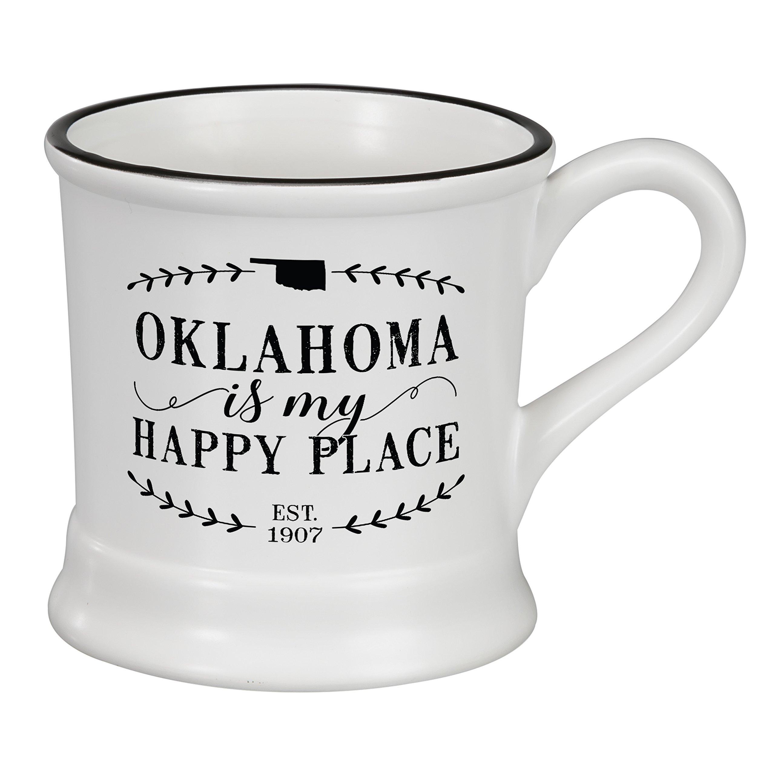 Occasionally Made O-HSS-MUG-OK 14 oz Oklahoma Ceramic Mug