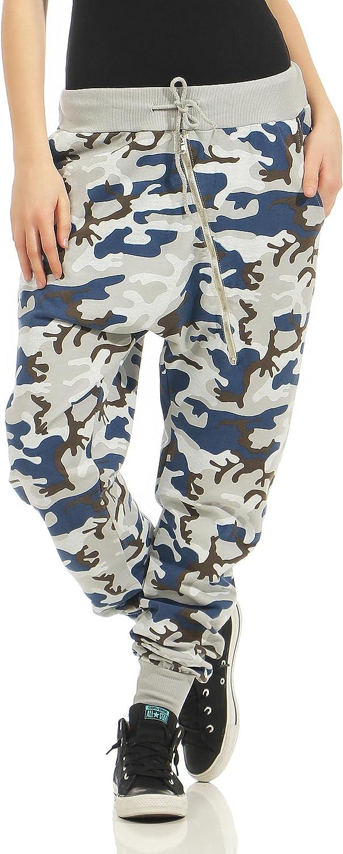 Malito Pantalón Camouflage-Design con Zipper Boyfriend Torcedura Baggy Aladin Bombacho Sudadera Envolver 3345 Mujer Talla Única