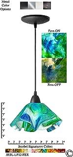 product image for Jezebel Signature JRBL-LP12-FER Black Lily Pendant, Small, Fern